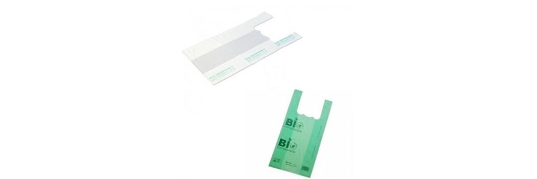 Bolsa camiseta bio-compostable