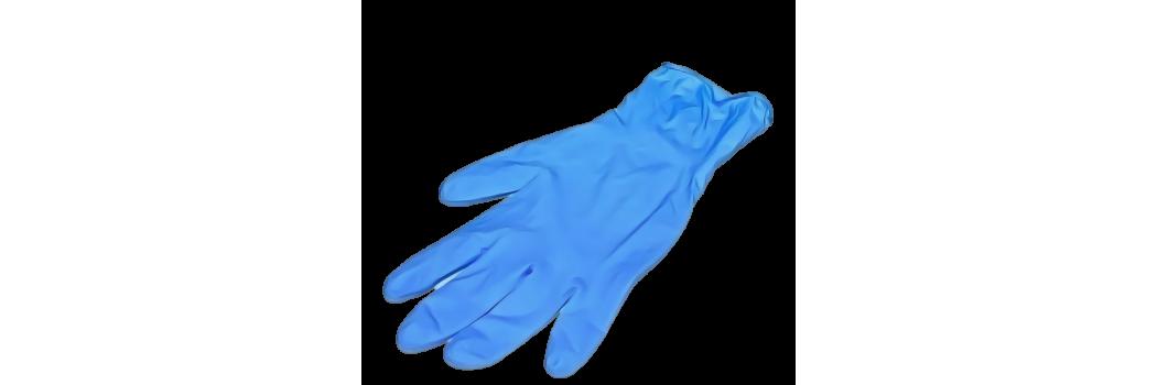 guantes y ropa de un solo uso